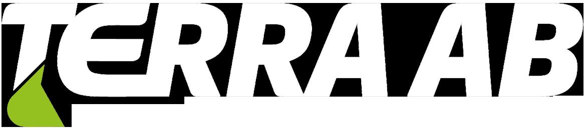 Terra AB Logo slide vit